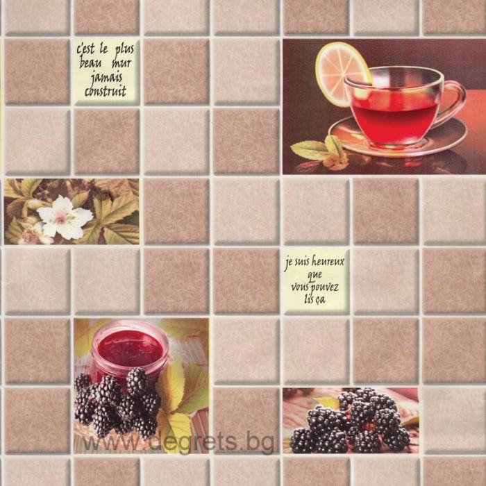 Тапет влагоустойчив Чай бежов
