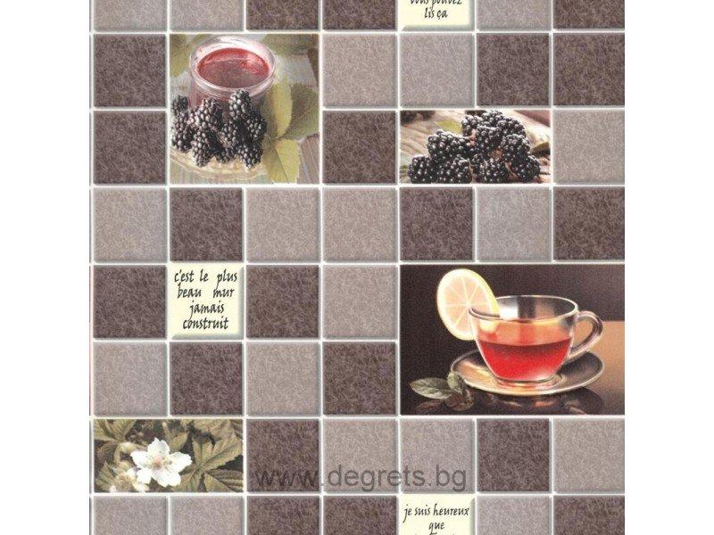 Тапет влагоустойчив Чай кафяв