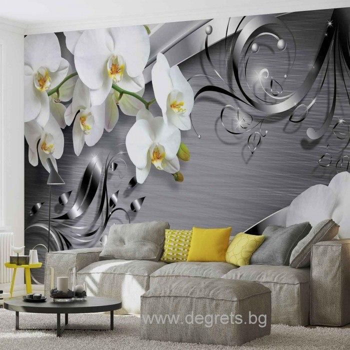 Фототапет Абстракция Орхидеи 4 3D