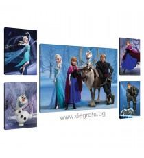 Картина Канава Замръзналото кралство 8 Сет 5 части