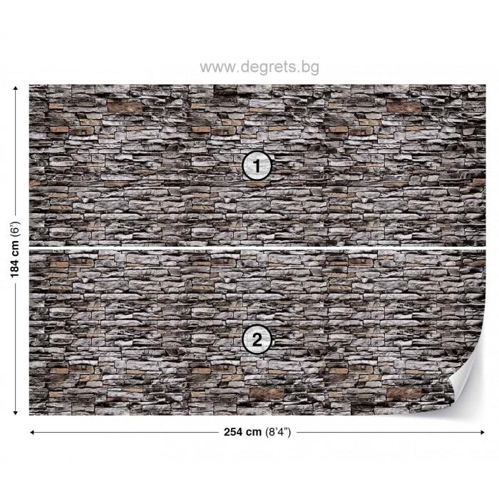 Фототапет Стена камък 1 3D L
