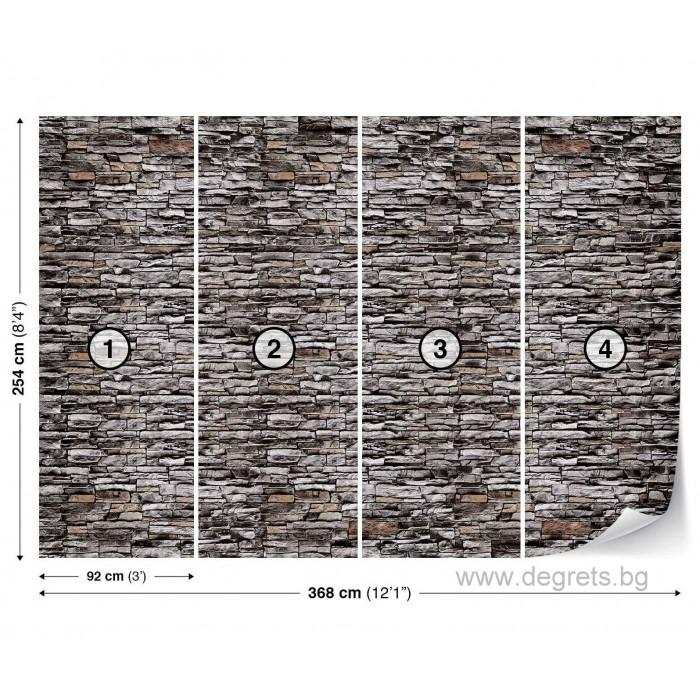 Фототапет Стена Камък 1 3D XL
