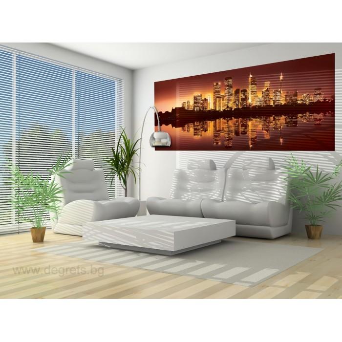 Фототапет флис Мегаполис сепия