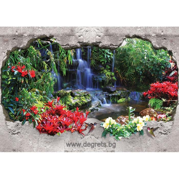 Фототапет Райски водопад 1 3D L 1