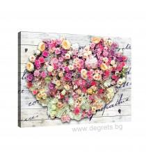 Картина Канава Любов - цветя 1