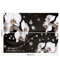 Фототапет Абстракция Орхидеи 2 3D L