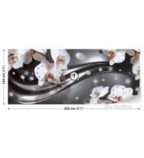 Фототапет флис Абстракция Орхидеи 3 3D S