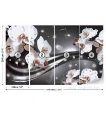 Фототапет флис Абстракция орхидеи 3 3D 2XL