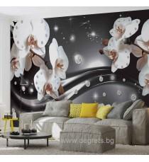 Фототапет Абстракция Орхидеи 3 3D L