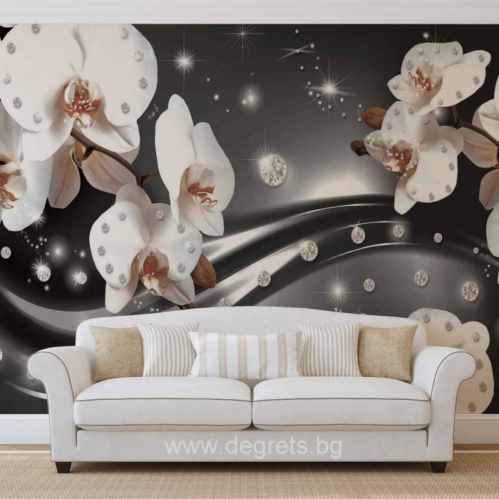 Фототапет Абстракция Орхидеи 3 3D XL
