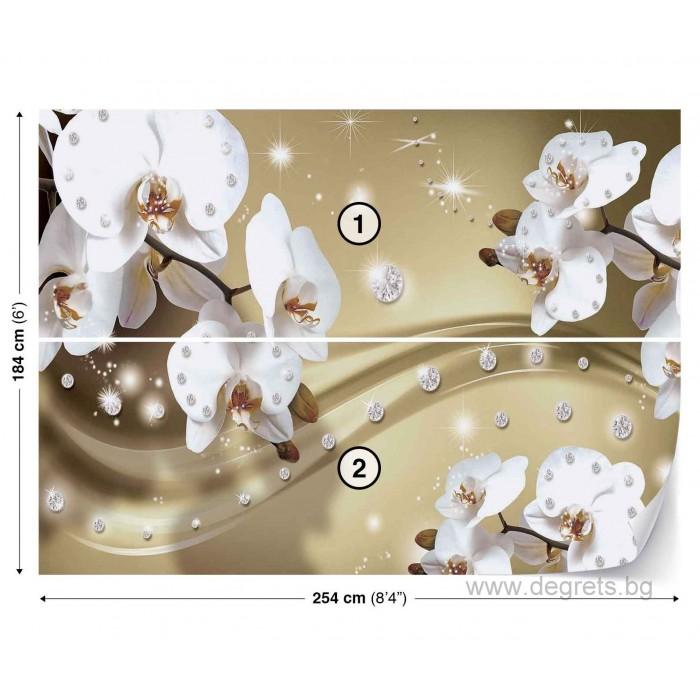 Фототапет Абстракция Орхидеи 5 3D L