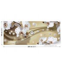 Фототапет флис Абстракция Орхидеи 5 3D S