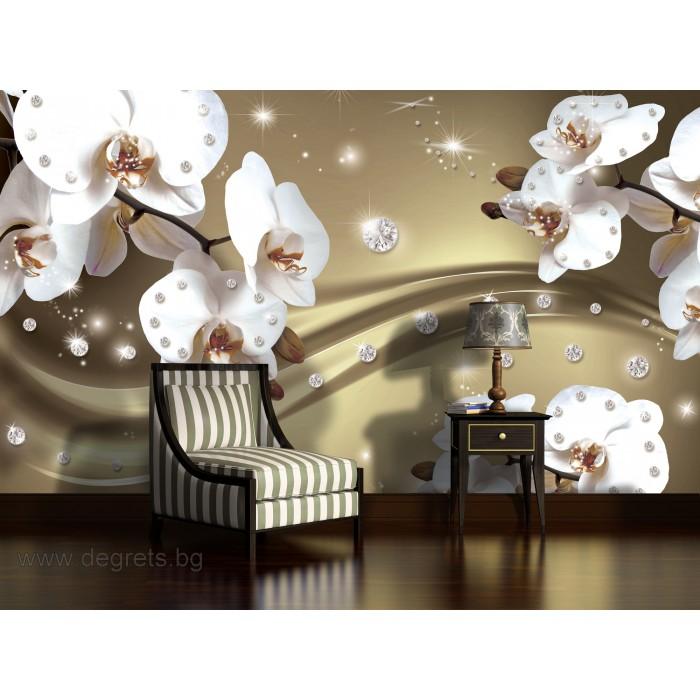 Фототапет Абстракция Орхидеи 5 3D XL