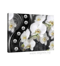 Картина Канава Абстракция Орхидеи 7 3D