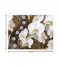 Картина Канава Абстракция Орхидеи 8 3D