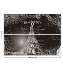 Фототапет Айфелова кула - винтидж