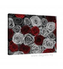 Картина Канава Рози червено - сиви