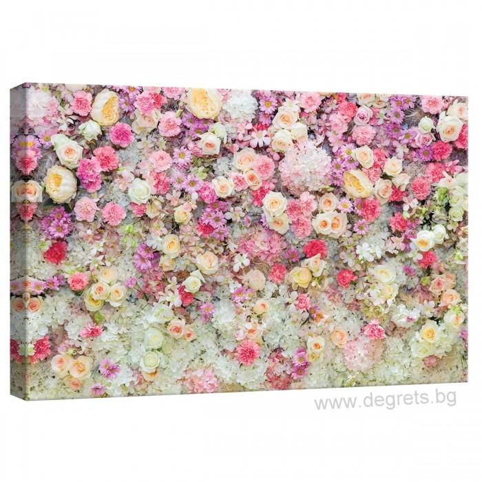 Картина Канава Стена от цветя 3D S