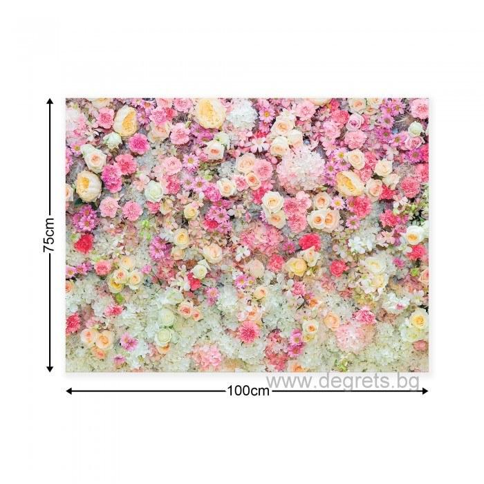 Картина Канава Стена от цветя 3D L