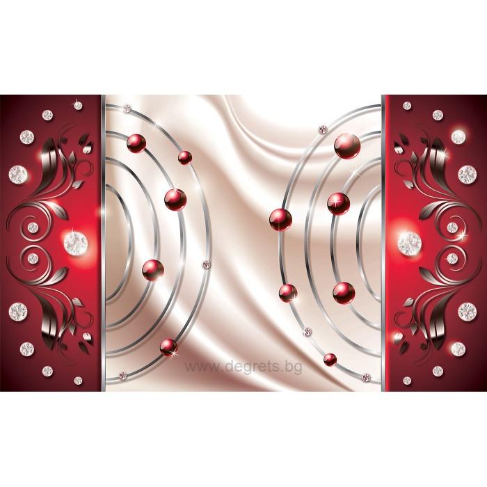 Фототапет Абстракция червен диамант 3D