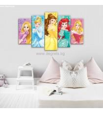 Картина Канава Дисни Принцеси 7 Сет 5 части