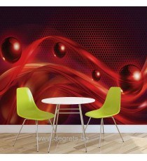 Фототапет Абстракция червена 3D