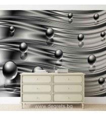 Фототапет Абстракция сиво - черна 3D
