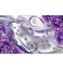 Фототапет Лилав флорален диамант 3D L