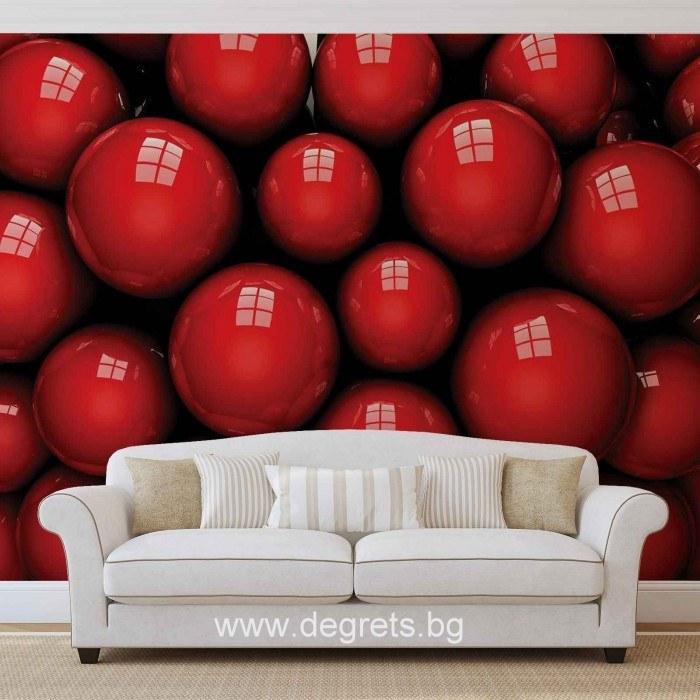 Фототапет Червени топки 3D
