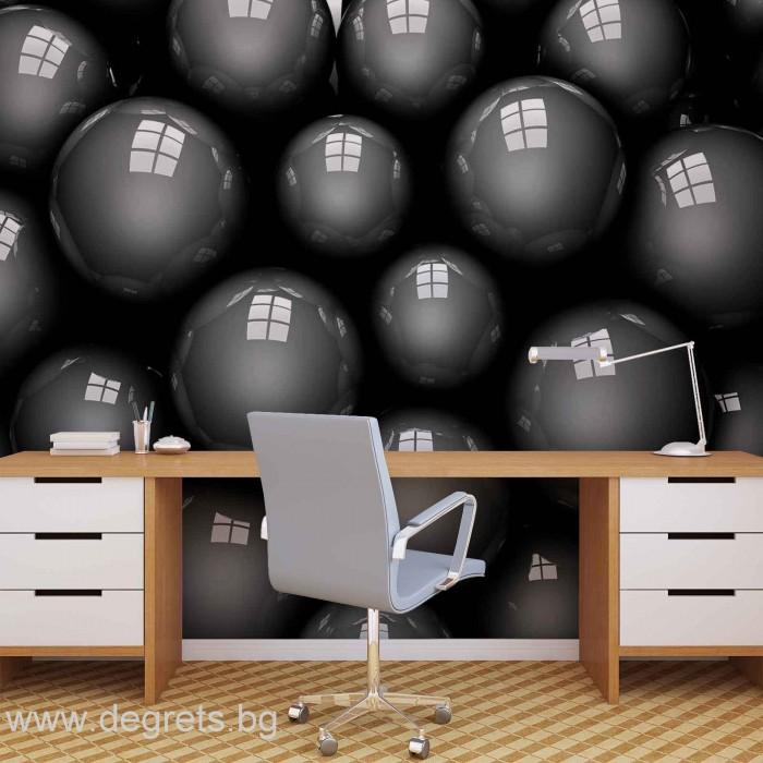 Фототапет Черни топки 3D