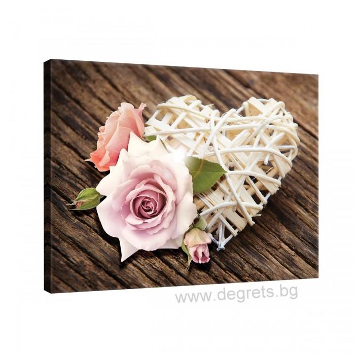 Картина Канава Любов - цветя 2 L