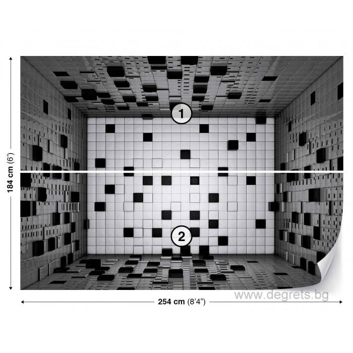 Фототапет Абстракция квадрати 3D