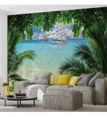 Фототапет Тропически плаж панорама
