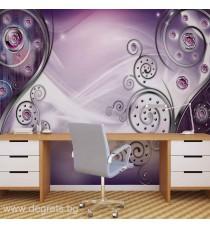 Фототапет Модерен стил лилав 3D