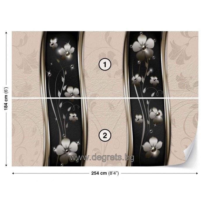 Фототапет Абстракция цветя 3D