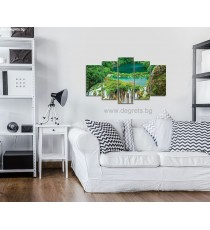 Картина Канава Водопад в джунглата Сет 5 части