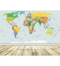Фототапет Карта на света 4 XL