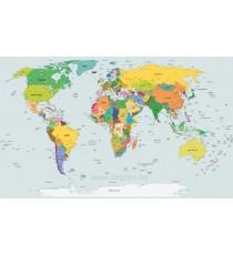 Фототапет Карта на света 4 L