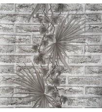 Тапет влагоустойчив Тухла с лист черна