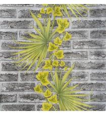 Тапет влагоустойчив Тухла с лист сива