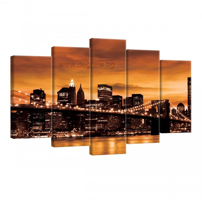Картина Канава Бруклински мост 6 Сет 5 части