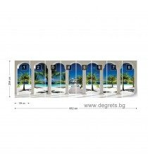 Фототапет флис Екзотичн плаж 3D панорама