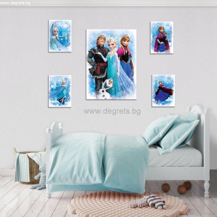 Картина Канава Замръзналото кралство 9 Сет 5 части