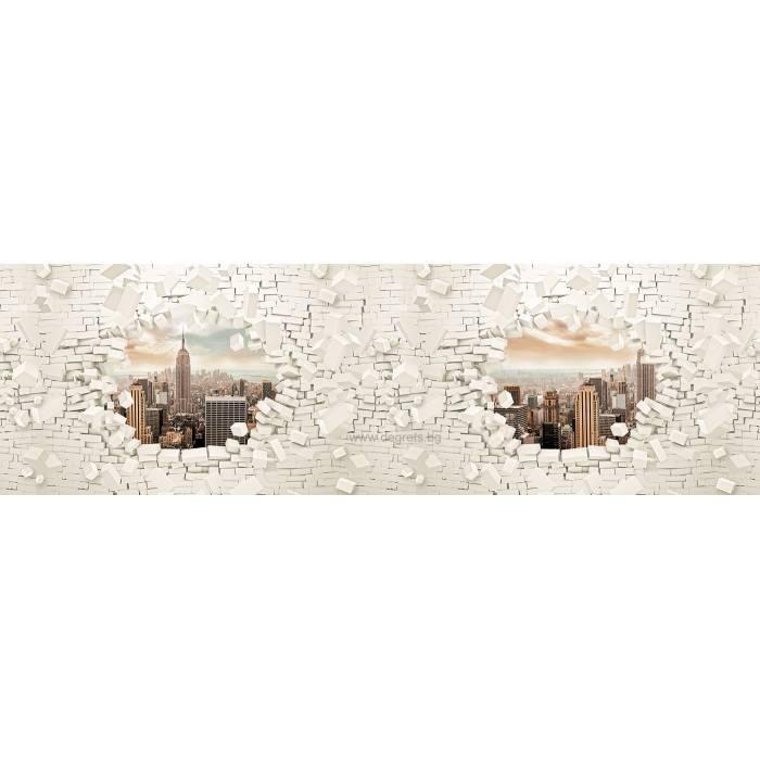 Фототапет флис Стена 3D Ню Йорк 3XL