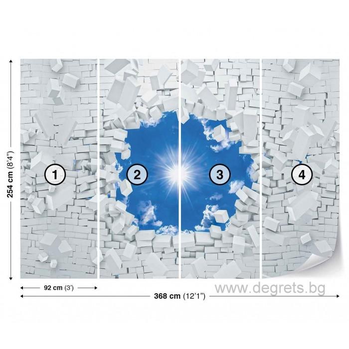 Фототапет Синьо небе 3D XL