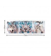 Картина Канава Животинско царство Сет 3 части