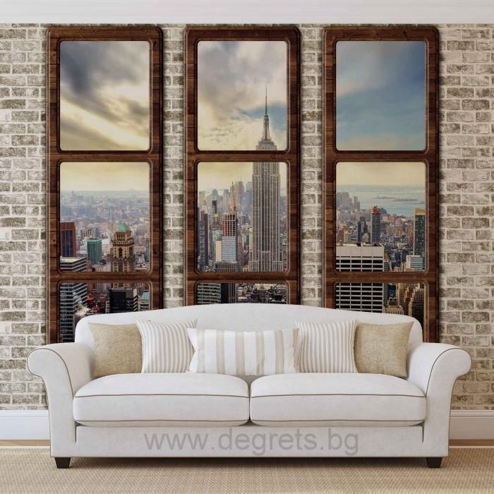Фототапет Ню Йорк от високо XL