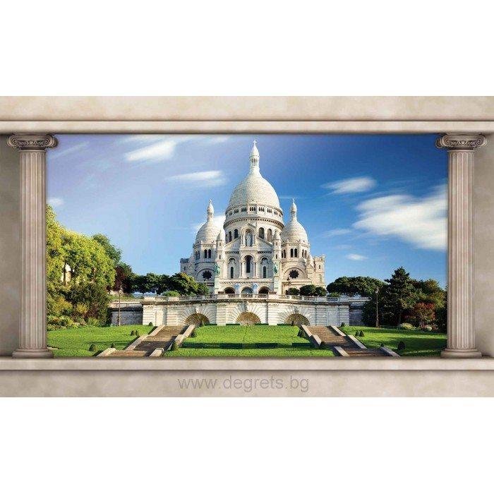 Фототапет Париж Свещено сърце