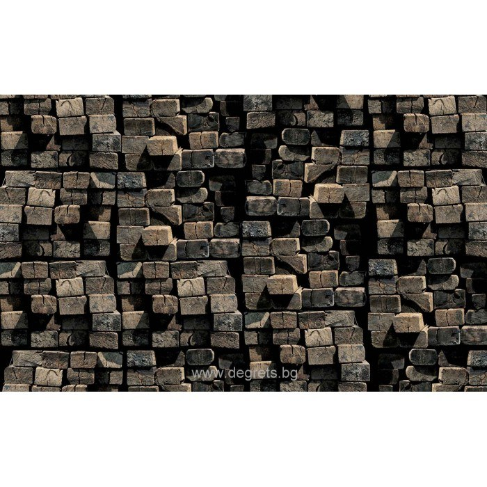 Фототапет Дървени трупи 3D
