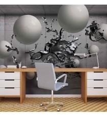 Фототапет Монохромно - абстракция 3D
